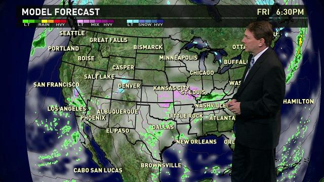 Friday's forecast: Ice storm from Texas to Illinois