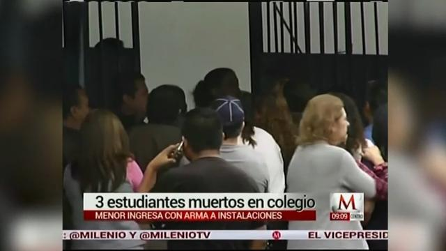 Raw: Gunfire Erupts at Mexican School,  3 Hurt