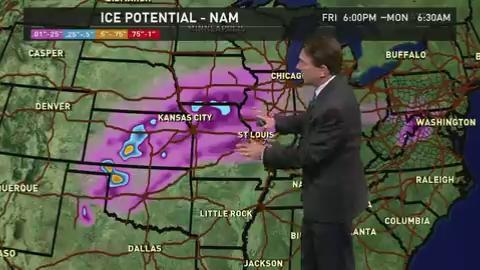 Saturday's forecast: Major ice storm continues across Plains