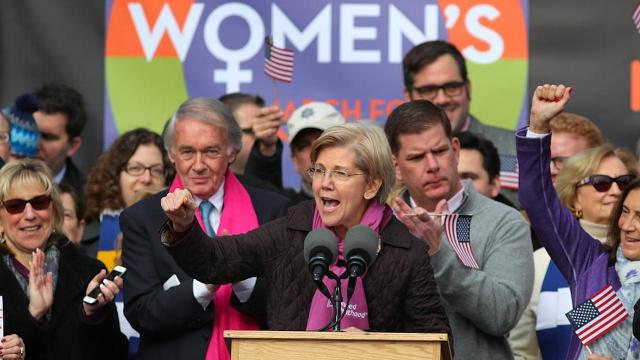 Massachusetts Democratic Sen. Elizabeth Warren — who was a consistent and vocal critic of Donald Trump during his presidential campaign — denounced the new President's policy proposals again on the day after his inauguration, which she described as a