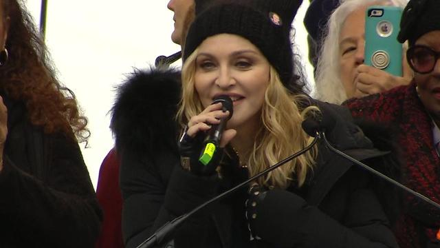 Madonna addressed a massive crowd gathered in Washington, D.C. on Saturday