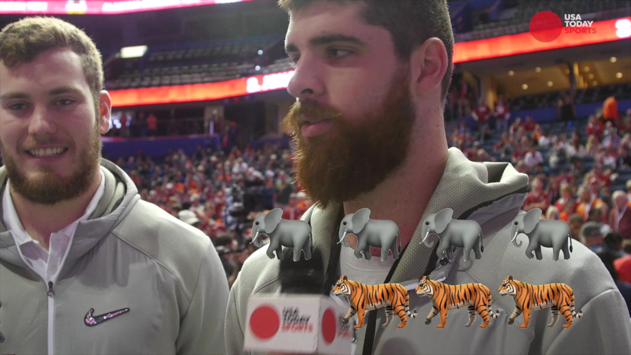Alabama and Clemson players give their takes on who would win if the matchup happened out in the wild.
