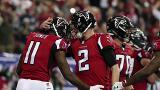 Falcons, Patriots win divisional games