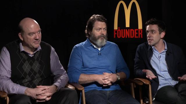 Actors John Carroll Lynch, Nick Offerman and B.J. Novak make their picks for the AFC and NFC Championship games of the NFL playoffs.