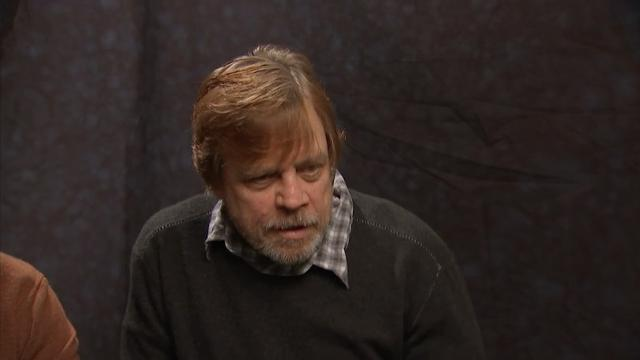 """Actor Mark Hamill reacts to news that """"Star Wars: Episode VIII"""" will be called """"The Last Jedi."""" (Jan. 23)"""