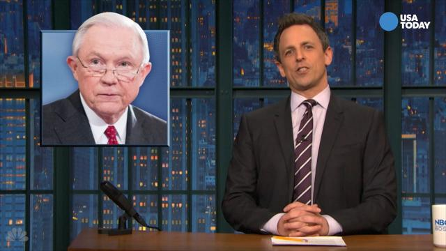 The late-night comics take a look at the Jeff Sessions confirmation hearing. Take a look at our favorite jokes, then vote for yours at opinion.usatoday.com.