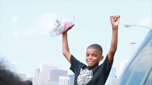 This nine-year-old Chicagoan is doing big things for his community