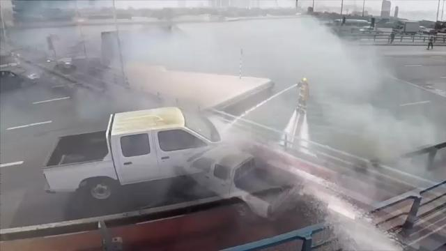 Dubai firefighters demo water jet packs