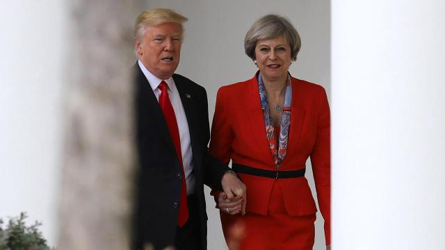 President Trump meets with British Prime Minister May