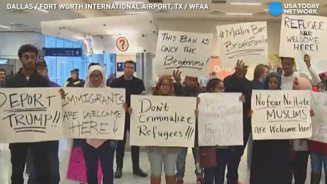 Protests erupt at U.S. airports over refugee ban