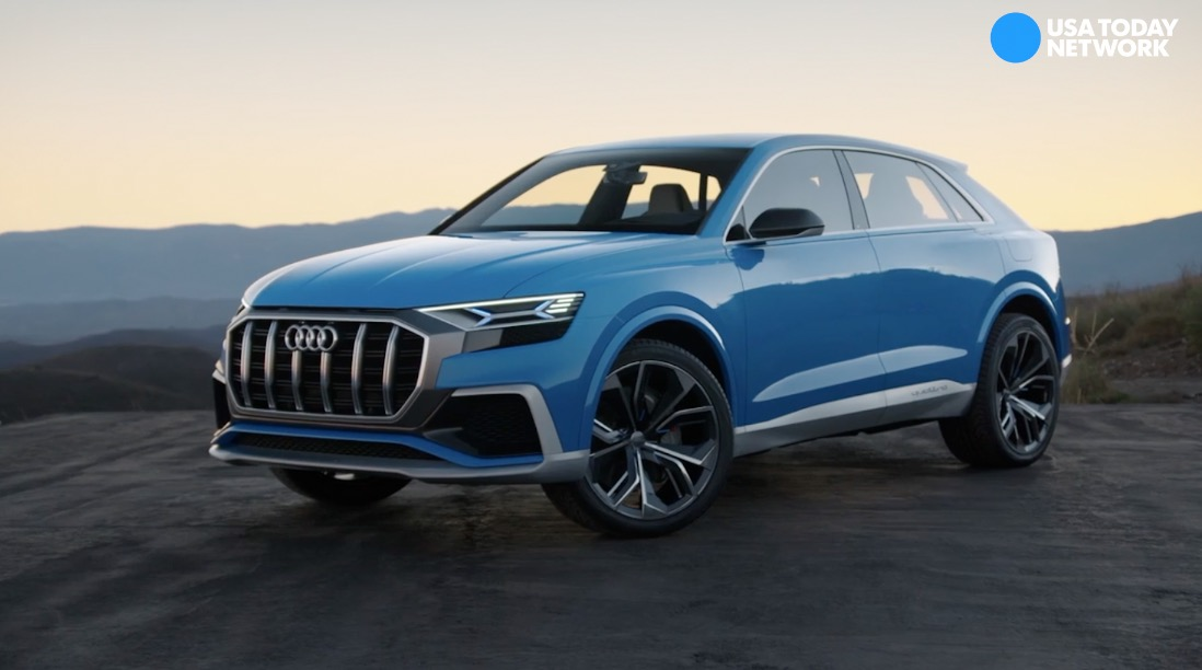 Audi reveals the Q8 luxury concept SUV on Monday, Jan. 9, 2017 during the 2017 North American International Auto Show at Cobo Center in Detroit.