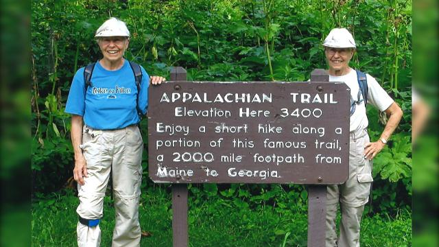 80-year-old twin sisters hike the Appalachian Trail