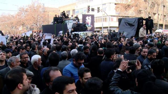 Hundreds of thousands of mourners attended the funeral of Iran's ex-president Akbar Hashemi Rafsanjani, whose death leaves a hole in the upper reaches of power for the country's moderates. Video provided by AFP