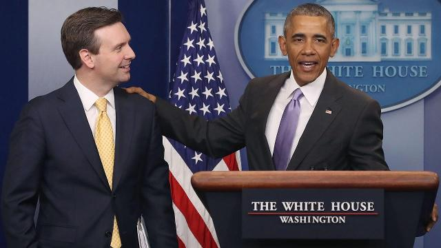 Watch President Obama surprise Press Secretary Josh Earnest