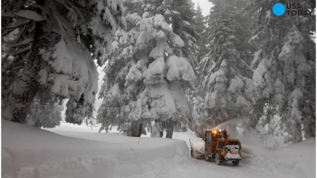 Snow slams California, Nevada and Oregon