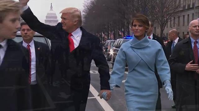 Raw: Trumps Walk Parade Route