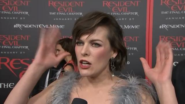 Milla's last hurrah on 'Resident Evil' set