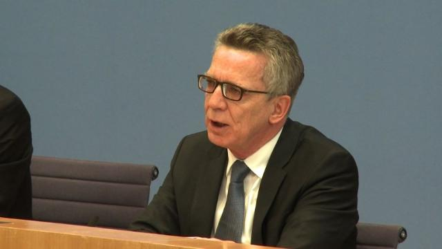Germany took in 280,000 asylum seekers in 2016, about one third of the previous year's record figure, Interior Minister Thomas de Maiziere says. Video provided by AFP