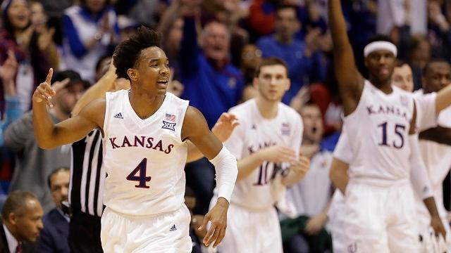 The Jayhawks (16-1) received 23 of 32 first-place votes this week.
