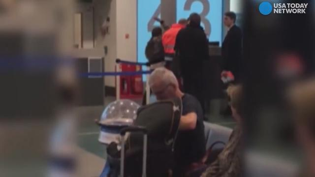 An angry passenger was caught on camera slapping a gate attendant at Stansted Airport in London. According to an airport spokesperson, the passenger had too many carry on bags and refused to repack or pay extra for them.