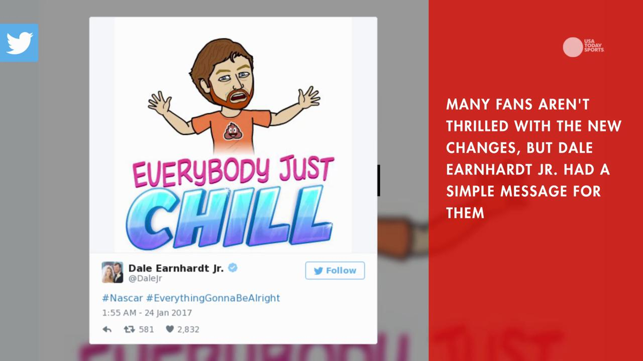 With major changes coming to NASCAR in the 2017 season Dale Earnhardt Jr. says 'everybody just chill'.