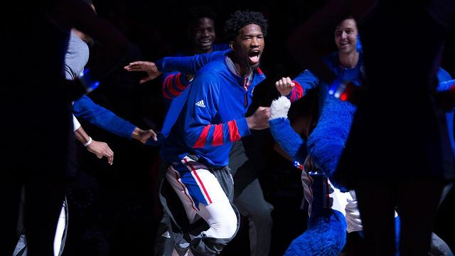 76ers' Joel Embiid pay tribute to WWE's Triple H