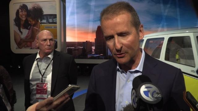 "Volkswagen brand chief Herbert Diess says the company must ""assume all responsibilities"" after a Volkswagen executive was arrested in the US on conspiracy charges in the ""dieselgate"" emissions-cheating scandal. Speaking at the Detroit auto show, Diess also says he hopes American customers ""will give us another chance if we behave correctly.""