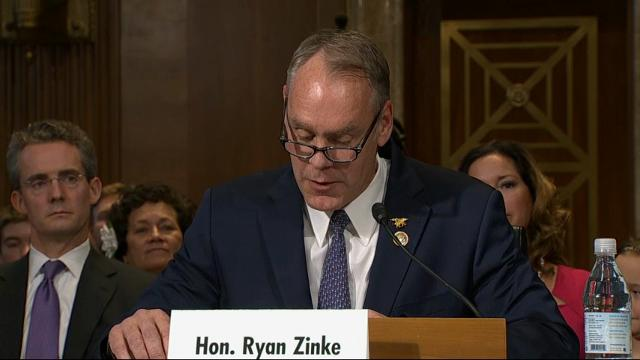 "Montana Congressman Ryan Zinke, Donald Trump's choice to be interior secretary, says he is an ""unapologetic admirer of Teddy Roosevelt"" and believes Roosevelt was right to place millions of acres of land in the West under federal protection. (Jan. 17)"