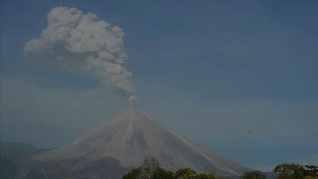 """The Colima Volcano, or """"Volcano of Fire"""" as it is also known, spews ashes in Mexico following days of increased activity. Video provided by AFP"""