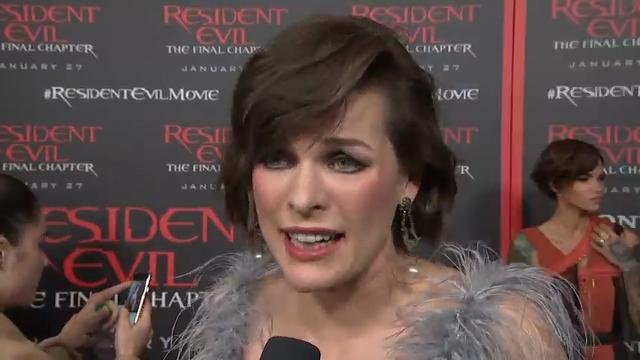 """At the Los Angeles premiere of her latest action film, """"Resident Evil: The Final Chapter,"""" actress Milla Jovovich discusses her hopes for the new government of the United States. (Jan. 24)"""
