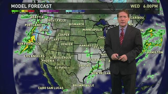 Wednesday's forecast: Big storm brings rain to West