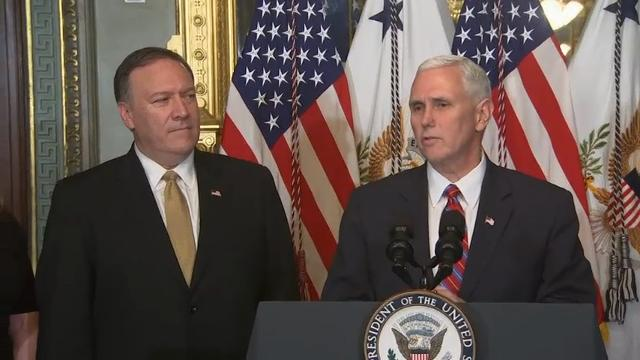 Kansas Rep. Mike Pompeo was sworn in by Vice President Mike Pence Monday night  to lead the Central Intelligence Agency, just an hour after being confirmed by the Senate. (Jan. 23)