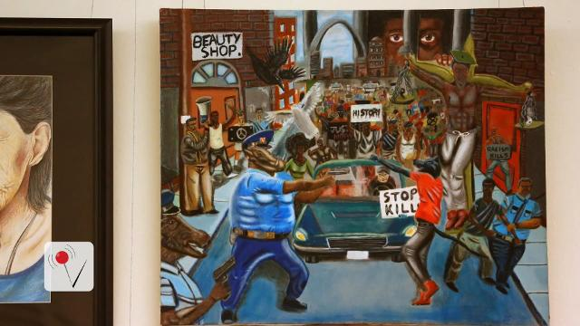 Democrat rehangs controversial painting in Capitol