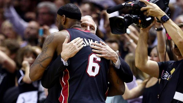 LeBron James has faced the San Antonio Spurs three times in the NBA Finals over his career, losing twice and winning a title in an epic seven-game series when James was with the Miami Heat in 2013.