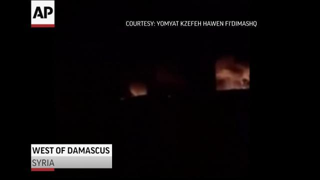 Raw: Syria Says Israeli Strike Hit Near Airport