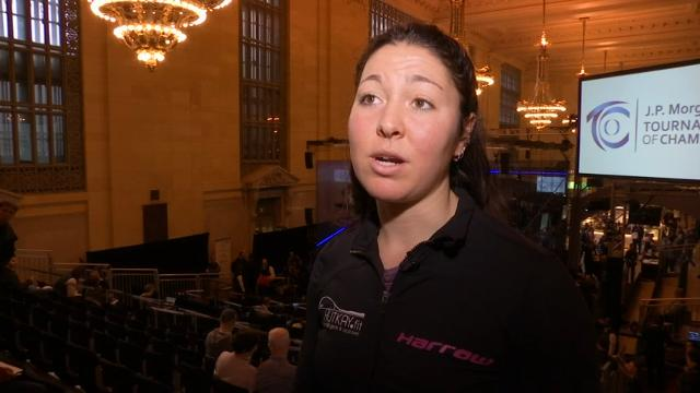 Amanda Sobhy, a recent Harvard graduate, is the highest-ranked American-born player squash player in the world. (Jan. 16)