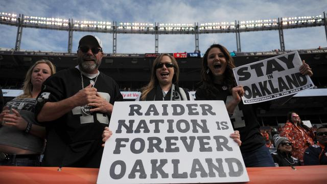 The Oakland Raiders filed paperwork to move to Las Vegas after missing out on the chance to go to Los Angeles. 