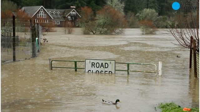 Thousands evacuated in California as continuing rain causes flooding
