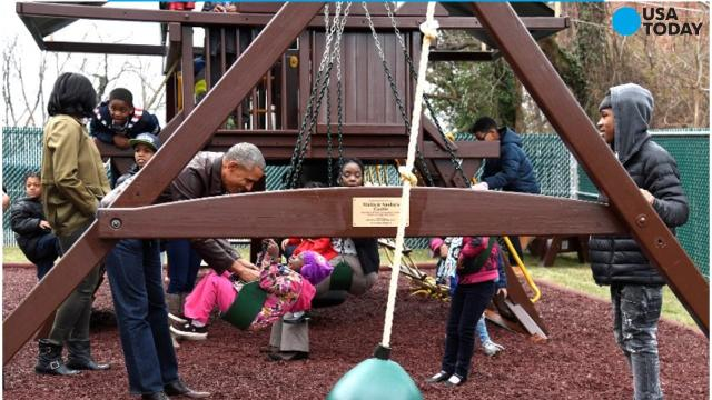 Obamas donate Malia and Sasha's playground to homeless shelter