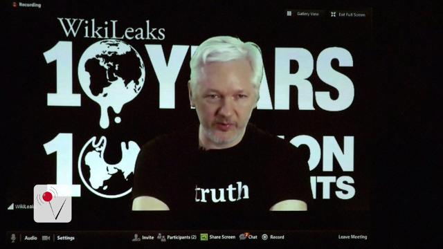 Trump cites Assange claim about Russia hacking