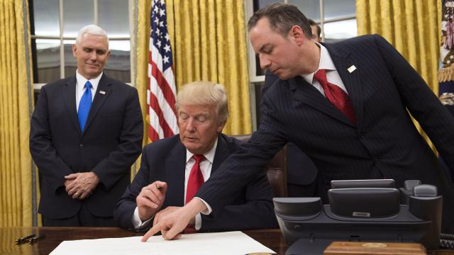 President Trump sent formal approval for his Cabinet nominees shortly after being inaugurated.