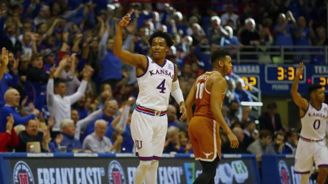 The Jayhawks topped the men's basketball poll for the second consecutive week.