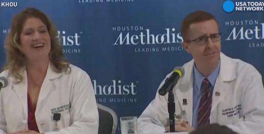 Hear how former President H.W. Bush and former first lady Barbara Bush support each other at Houston Methodist Hospital.