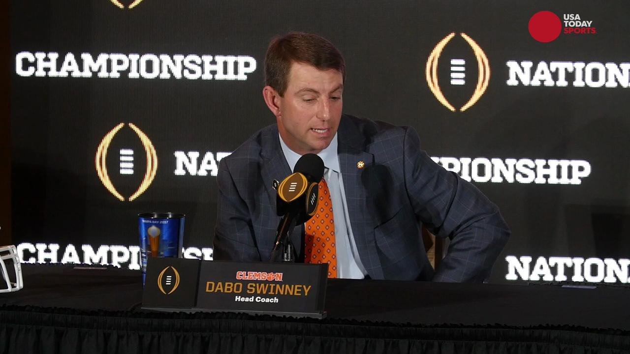 Clemson head coach Dabo Swinney reflects on his time at Alabama and Alabama head coach Nick Saban complements his unbiased loyalty.