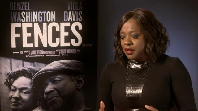 """Fences"" star Viola Davis on whether she will watch Donald Trump's inauguration and how she felt when Michael Keaton accidentally called her movie ""Hidden Fences"" at the Golden Globes.  (Jan. 17)"