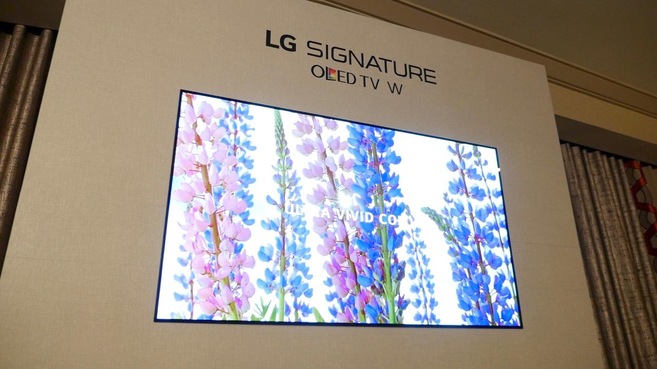 LG's new wallpaper TV hangs on your wall like a picture