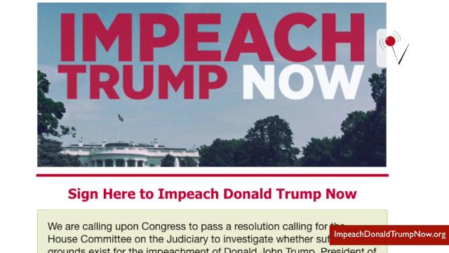 Just minutes after President Donald Trump was sworn into office, a new website surfaced. It's goal is to get him impeached.