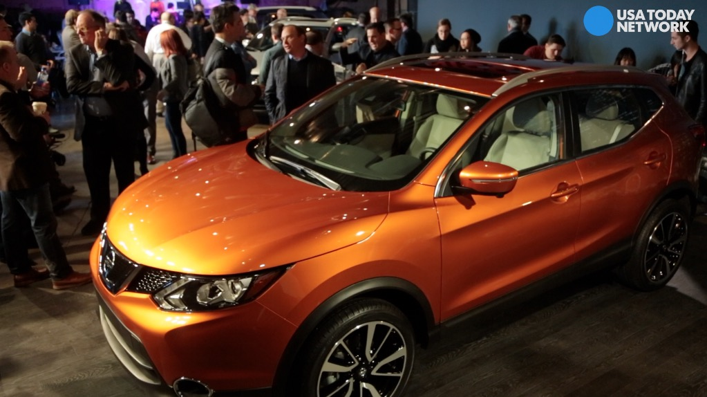 Nissan reveals the 2017 Nissan Rogue Sport on Sunday, Jan. 8, 2017 during the 2017 North American International Auto Show at Cobo Center in Detroit.