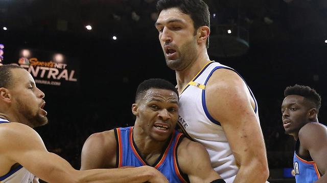 Oklahoma City Thunder guard Russell Westbrook says he plans on getting back at Golden State Warriors center Zaza Pachulia after he received a hard foul in the second quarter of their game Wednesday night.