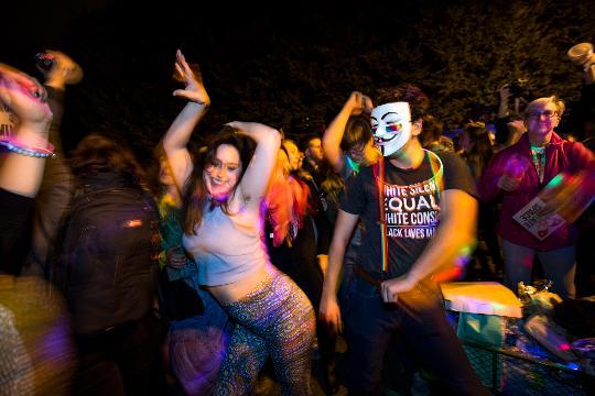 LGBT Dance Party Outside Mike Pence Home